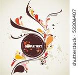decorative shape illustration | Shutterstock .eps vector #53306407