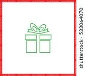 gift box icon vector... | Shutterstock .eps vector #533064070