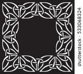 celtic pattern. element of...   Shutterstock .eps vector #533068324
