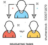 delegation task vector icon | Shutterstock .eps vector #533071870