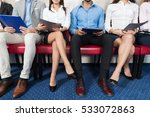 candidates wait for job... | Shutterstock . vector #533072863