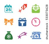 christmas icons | Shutterstock .eps vector #533073628