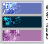 set of winter themed banners | Shutterstock .eps vector #533074588