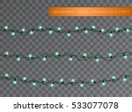 blue garland set  christmas... | Shutterstock .eps vector #533077078
