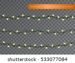 yellow garland set  christmas... | Shutterstock .eps vector #533077084