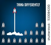 think differently   being... | Shutterstock .eps vector #533084200