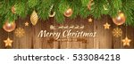 elegant and luxury christmas... | Shutterstock .eps vector #533084218