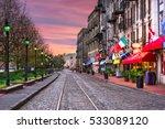 savannah  georgia  usa bars and ... | Shutterstock . vector #533089120