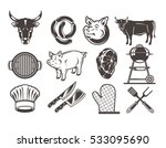 set grill and barbecue icons | Shutterstock .eps vector #533095690
