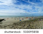 Kite Surf On The Beach  Of ...