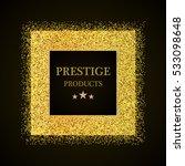 golden frame on black...   Shutterstock .eps vector #533098648