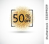50 percent off discount... | Shutterstock .eps vector #533099059