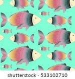 fish background vector  | Shutterstock .eps vector #533102710