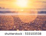 blur tropical sunset beach with ... | Shutterstock . vector #533103538