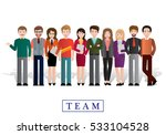 group of creative people ... | Shutterstock .eps vector #533104528