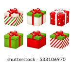 vector set of red and green... | Shutterstock .eps vector #533106970