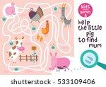 funny maze for children. help... | Shutterstock .eps vector #533109406