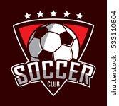 soccer logo  america logo ... | Shutterstock .eps vector #533110804
