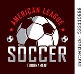 soccer logo  america logo ... | Shutterstock .eps vector #533110888