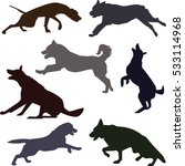 silhouettes of different dog... | Shutterstock .eps vector #533114968
