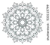 mandala. round ornament pattern.... | Shutterstock .eps vector #533115799