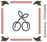 web line icon. plum
