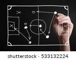 hand drawing a football... | Shutterstock . vector #533132224