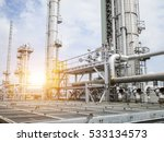 refinery oil and gas industry | Shutterstock . vector #533134573