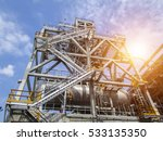 refinery oil and gas industry | Shutterstock . vector #533135350