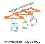 empty clothes hangers on a rack ... | Shutterstock .eps vector #533138938