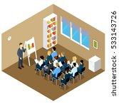 people isometric training... | Shutterstock .eps vector #533143726