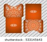 vector wedding invitation with... | Shutterstock .eps vector #533145643
