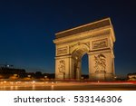 arch of triumph on the star... | Shutterstock . vector #533146306