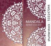flyer  leaflet cover mandala ...   Shutterstock .eps vector #533147044