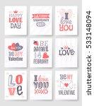 valentine's day hand drawn...   Shutterstock .eps vector #533148094