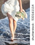The Bride Goes Barefoot In The...