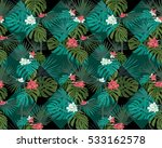 exotic seamless pattern with... | Shutterstock .eps vector #533162578