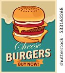 vector banner with cheeseburger ... | Shutterstock .eps vector #533163268