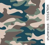camouflage pattern background.... | Shutterstock .eps vector #533167834