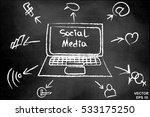 social networks. the... | Shutterstock .eps vector #533175250