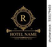 luxury logo template in vector... | Shutterstock .eps vector #533179603
