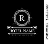 luxury logo template in vector... | Shutterstock .eps vector #533183200