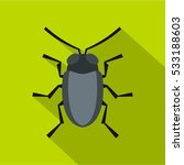 small bug icon. flat... | Shutterstock .eps vector #533188603