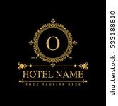 luxury logo template in vector... | Shutterstock .eps vector #533188810