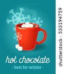colorful poster with red mug of ... | Shutterstock .eps vector #533194759
