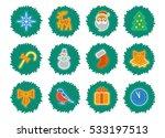 christmas vector icon set | Shutterstock .eps vector #533197513