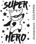 Stock vector super hero vector cat 533199406