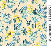 seamless floral pattern with... | Shutterstock . vector #533200024