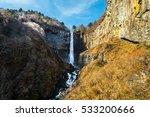 autumn leaves at kegon falls ...   Shutterstock . vector #533200666