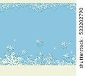 blue winter christmas... | Shutterstock .eps vector #533202790